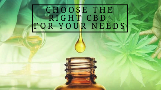 How To Choose The Right CBD For Your Needs